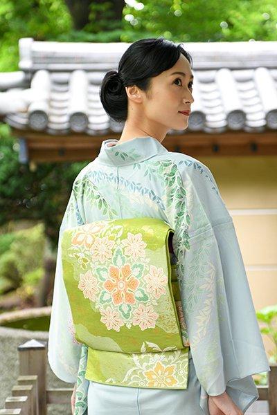 銀座【帯3942】西陣 川島織物製 絽 袋帯