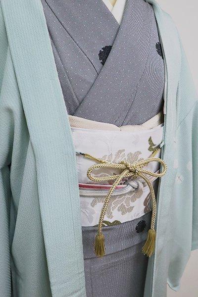【G-1585】京都衿秀 羽織紐 丸組 桑染色×白色(新品)