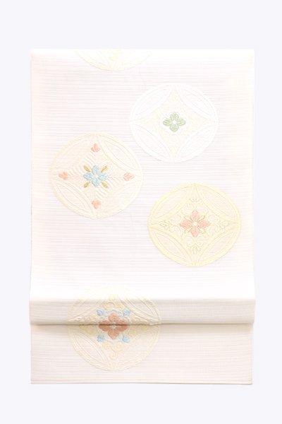 あおき【帯3946】西陣 藤原織物製 紗本袋帯 (反端 証紙付)