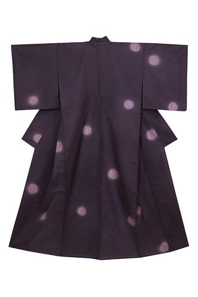 銀座【着物3240】十日町 青柳製 櫛引織 単衣 着物