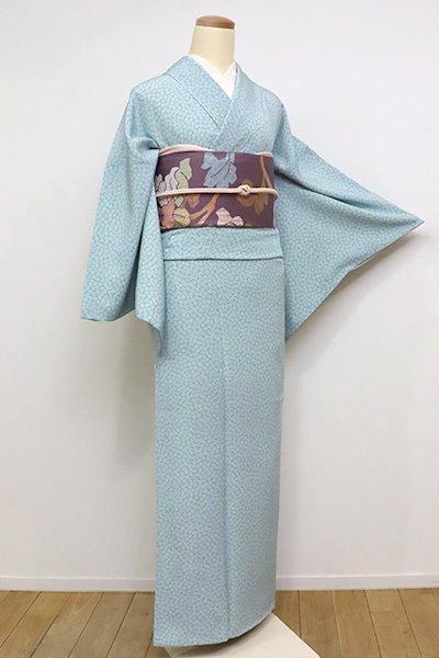 あおき【C-1517-6】江戸小紋 秘色色 梅鉢(反端付)(N)