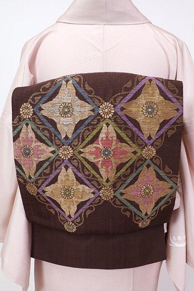 銀座【L-5779】袋帯 憲法色 装飾菱文