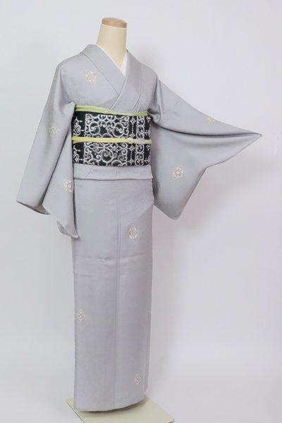 銀座【D-2906】単衣 小紋 灰青色 菱文