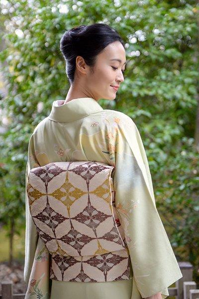 銀座【帯3994】西陣 河合美術織物製 袋帯