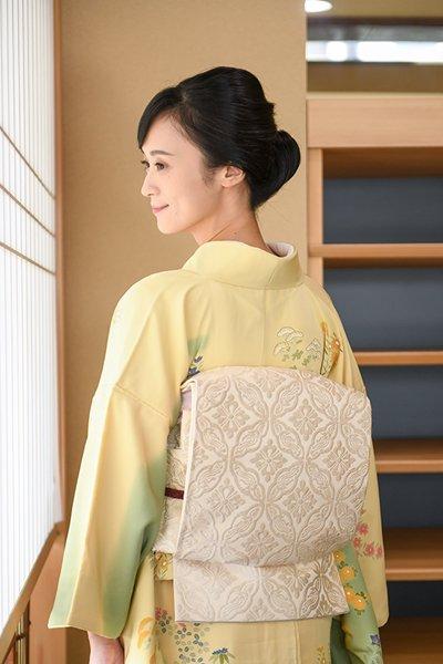 銀座【帯4002】西陣 河合康幸製 唐織 袋帯