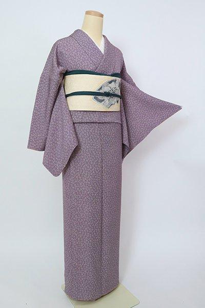 銀座【D-2911】(L)小紋 紫苑色 兎の図
