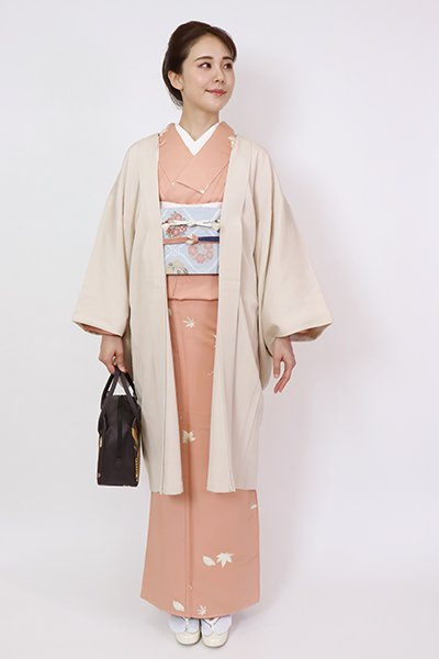 銀座【E-1441】羽織 薄卵色 市松文
