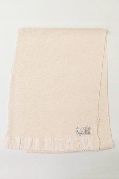 【R-11】正絹 縮緬無地帯揚げ 練色