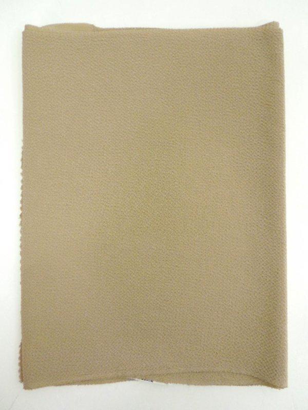【R-16】正絹 縮緬無地帯揚げ 白橡