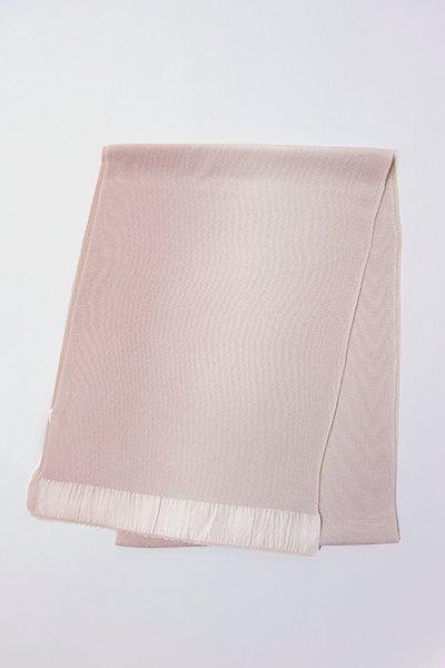 【R-400】正絹 縮緬無地帯揚げ 2色ぼかし 薄梅鼠×淡い胡桃染