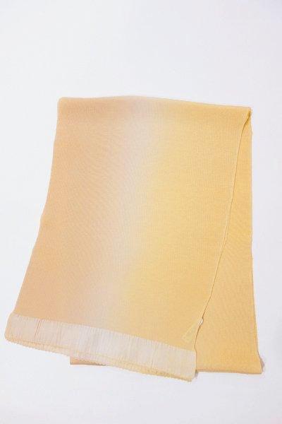 【R-500】正絹 縮緬無地帯揚げ 2色ぼかし 卵色×砥粉色
