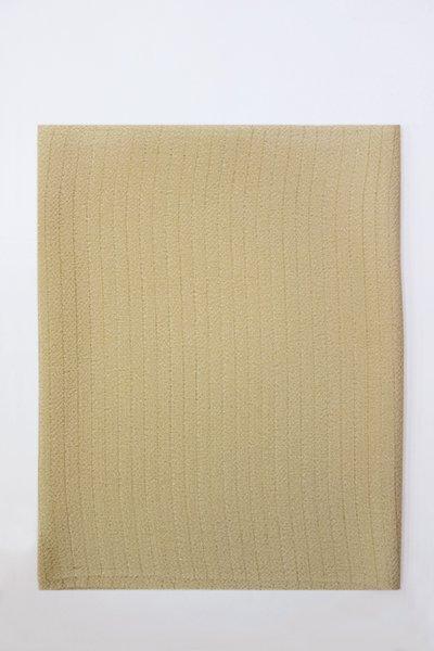 【R-211】正絹 絽縮緬無地帯揚げ 白橡