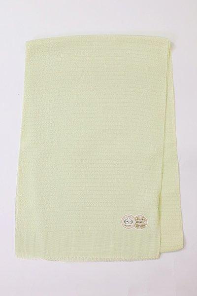 【R-216】正絹 絽縮緬無地帯揚げ 白緑色