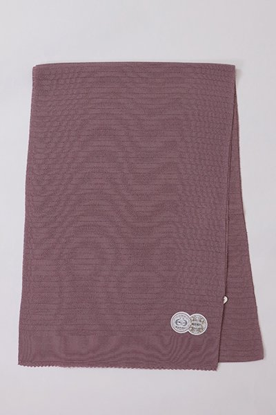 【R-221】正絹 絽縮緬無地帯揚げ 葡萄鼠色