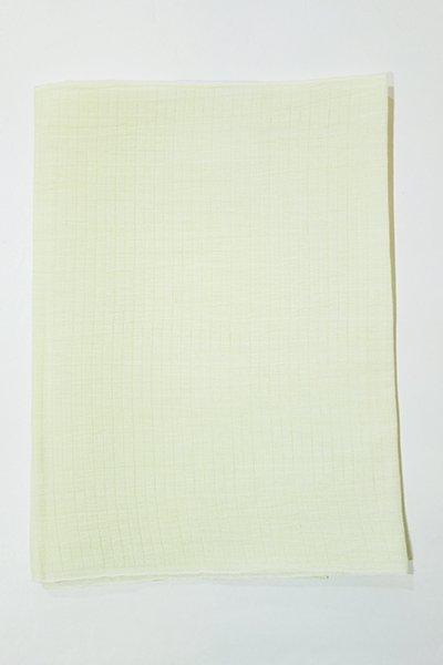【R-304】小千谷縮帯揚げ 白緑色