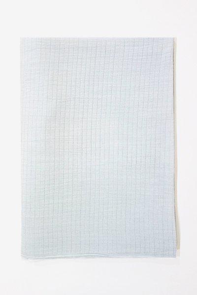 【R-306】小千谷縮帯揚げ 白藍色