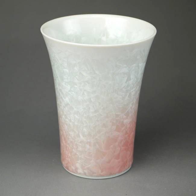 花結晶フリーカップ 陶あん 白地赤