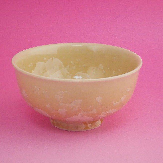 花結晶ご飯茶碗 陶あん 小 金花