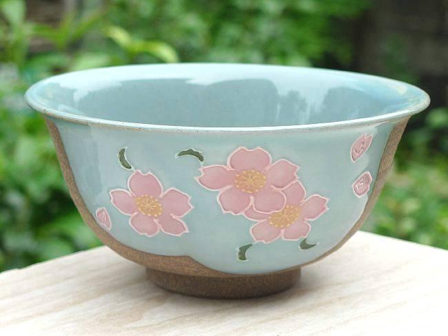 焼締桜ご飯茶碗 大