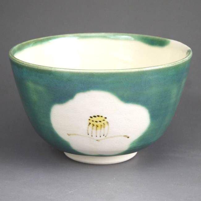 侘び助ツバキ 抹茶茶碗