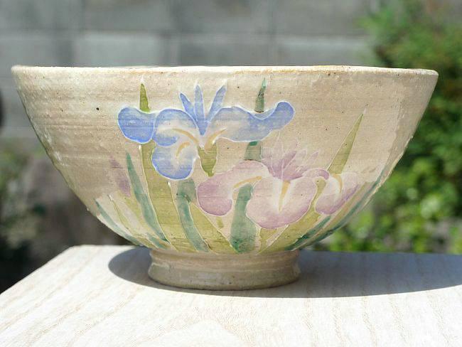 菖蒲の花ご飯茶碗 瑞光 大
