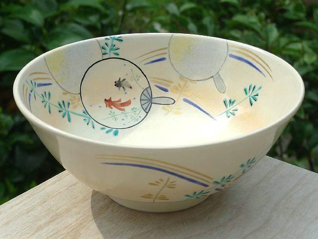 平茶碗 うちわ金魚 香菊