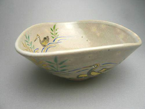 川鵜変形夏茶碗