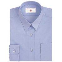 レディーススクールシャツ(長袖/角衿/サックス) No.CP292