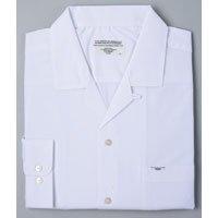 メンズスクールシャツ/裾水平カット(オフホワイト)No.6155
