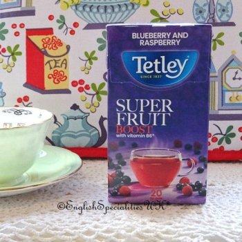 【Tetley】Boost Super Fruits Blueberry & Raspberry Tea Bags<br>テトリー スーパーフルーツ ブルーベリー&ラズベリーティ