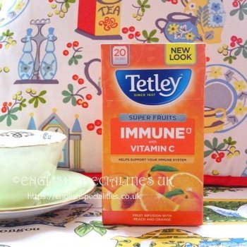 【Tetley】Immune Super Fruit Peach & Orange Tea Bags<br>テトリー スーパーフルーツ ピーチ&オレンジ ティー