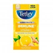 【Tetley】Immune Super Fruit Lemon & Ginger  Tea Bags<br>テトリー スーパーフルーツ レモン&ジンジャー ティー