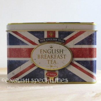 【New English Teas】Vintage Style Union Jack  Breakfast Teabags <br>ヴィンテージスタイル ユニオンジャック ブレックファーストティー