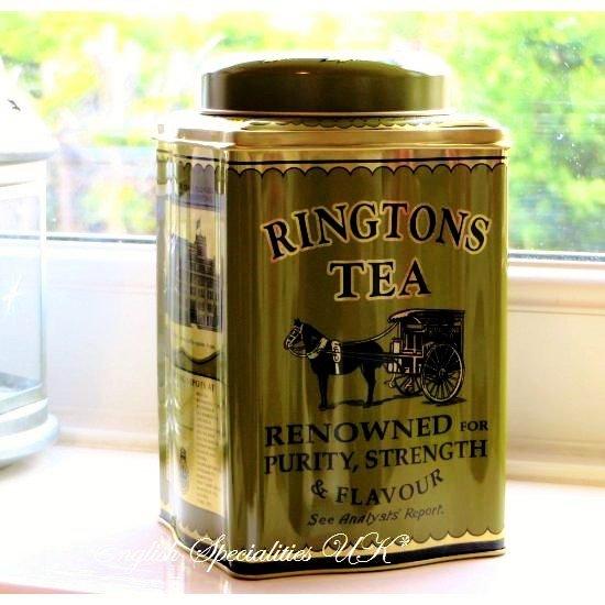 【Ringtons】Traditional Caddy & 50 Kenyan Gold Tea Bags リントンズ トラディショナルキャディー&ケニアゴールド ティーバ…