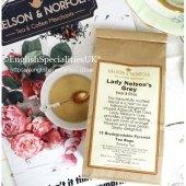 【Nelson & Norfolk Tea】Lady Nelsons' Grey Teabags <br>ネルソン&ノーフォークティー レディネルソンズグレイ ティーバッグ