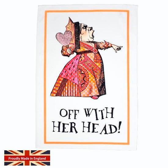 【MRS MOORE】ALICE IN WONDERLAND Red Queen TEA TOWELミセスムーア 不思議の国のアリス レッドクイーン ティータオル
