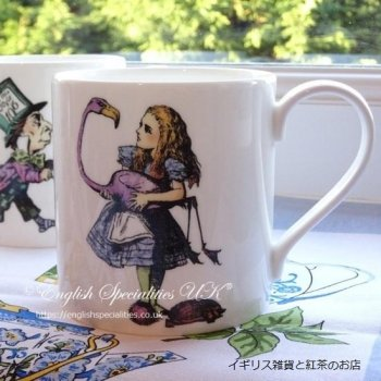 <img class='new_mark_img1' src='https://img.shop-pro.jp/img/new/icons20.gif' style='border:none;display:inline;margin:0px;padding:0px;width:auto;' />★Sale!【MRS MOORE】ALICE & Flamingo mug<br>ミセスムーア 不思議の国のアリス アリス&フラミンゴ マグ