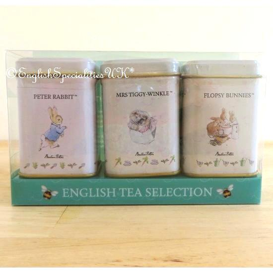 【New English Teas】Peter Rabbit Mini Tin Triple Packピーターラビット ミニ缶 セレクション紅茶