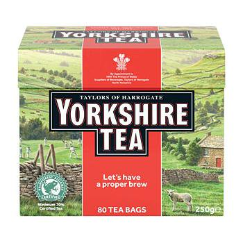 【Yorkshire Tea】 80 Teabags<br>ヨークシャー紅茶 80ティーバッグ