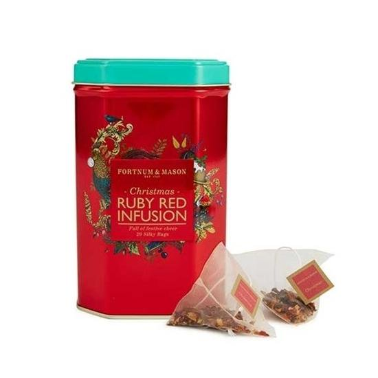 【Fortnum & Maison】Christmas Ruby Red Infusion 20 Teabags Caddyフォートナム&メイソン クリスマスス ルビーレッド ティーバッグ