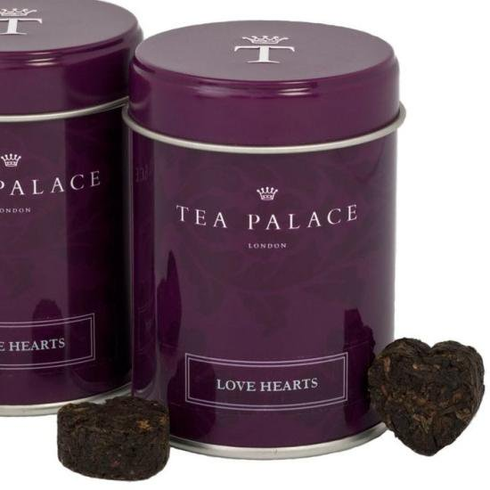 【TEA PALACE】Love Hearts Tea Small Caddy 12 Piecesティーパレス ラブハーツティー缶 12ピース(スモール…