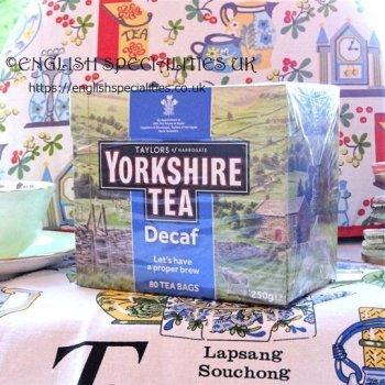 【Yorkshire Tea】 Decaf 80 Teabags<br>ディカフェ ヨークシャー紅茶 80ティーバッグ