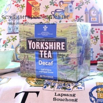 【Yorkshire Tea】 Decaf 80 Teabags<br>ディカフェ ヨークシャー紅茶 80ティーバッグ