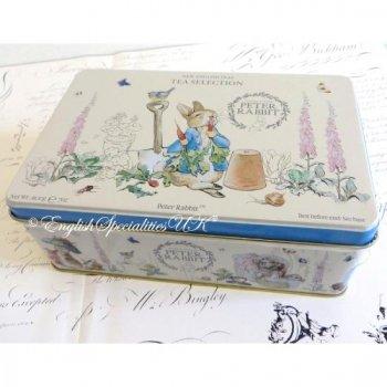 【New English Teas】Beatrix Potter 100 Teabag Tin Selection<br>ビアトリクスポター ピーターラビット缶 セレクション紅茶100ティーバッグ