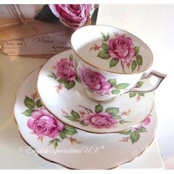 【メルバ 】ピンクローズ トリオ(1950年代) <br>Melba - Pink Rose Trio ★Vintage★
