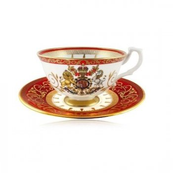 【The Royal Collection】 Buckingham Palace Coronation Teacup and Saucer <br>バッキンガム宮殿 コロネーション カップ&ソーサー