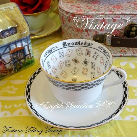 【J & G Grosvenor China】*VINTAGE* Fortune Telling CS  MIX & MatchJ & Gグロブナーチャイナ フォーチュンカップ