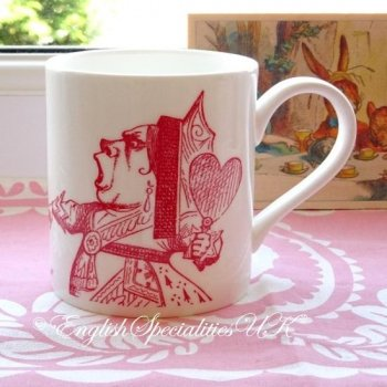 【Whittard】ALICE IN WONDERLAND Queen of Hearts Mug RED<br>ウィタード 不思議の国のアリス ハートの女王マグ レッド