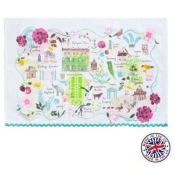 【Highgrove】 Garden Plan Tea Towel<br>ハイグローブガーデン プランティータオル
