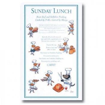 【Samuel Lamont】Sunday Lunch Tea Towel <br>サミュエルラモント サンデーランチ コットン ティータオル